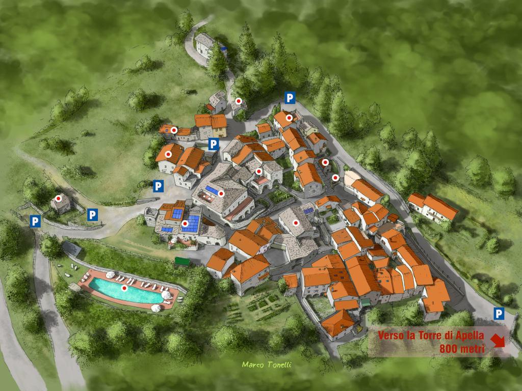 Il Borgo di Apella, la Mappa